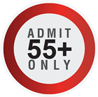 Admit 55 plus only